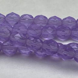 Amethyst Fire Polish 6mm