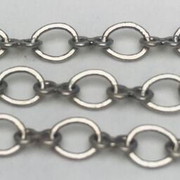Antique Silver Oval Cable Chain