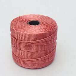 S-Lon Bead Cord, Chinese Coral, 77 yards