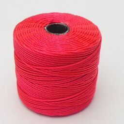 S-Lon Bead Cord, Coral, 77 yards