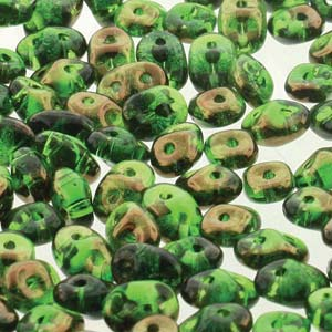 Chrysolite Semi Bronze Luster Superduos 24 grams