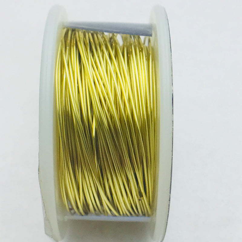 Faux Gold Copper Core Wire, Anti-Tarnish