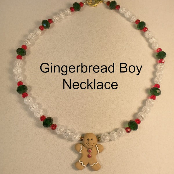 Gingerbread Boy Necklace Kit