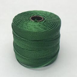 S-Lon Bead Cord, Green, 77 yards