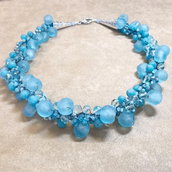 Hydrangea Blues Necklace