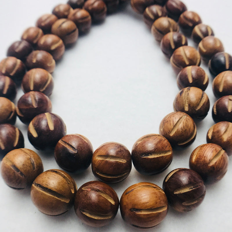 Madres de Cocoa Wood Beads, Round, 15mm