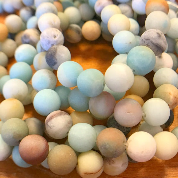 Amazonite Matte Finish Gemstones 10mm