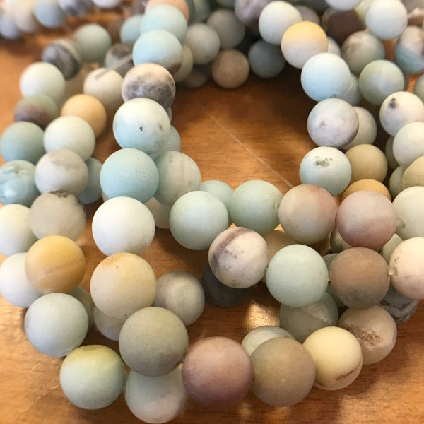 Amazonite Matte Finish Gemstones 8mm