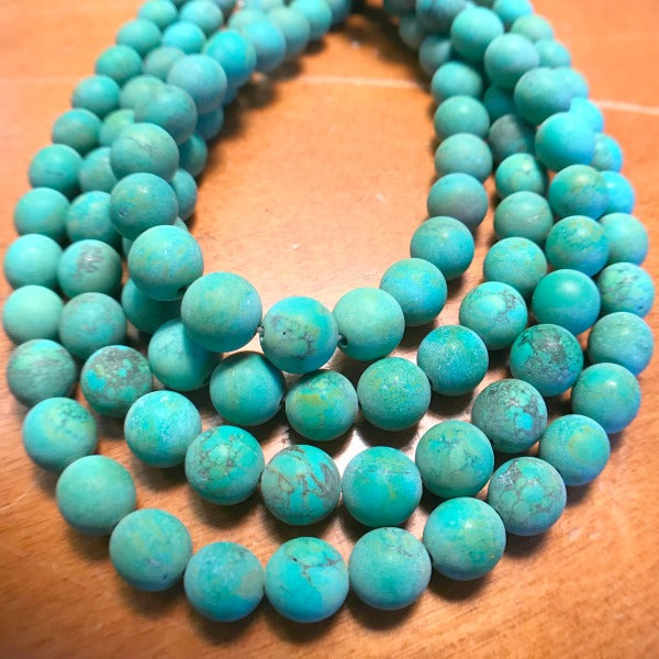 Green Howlite Matte Finish Gemstones 10mm