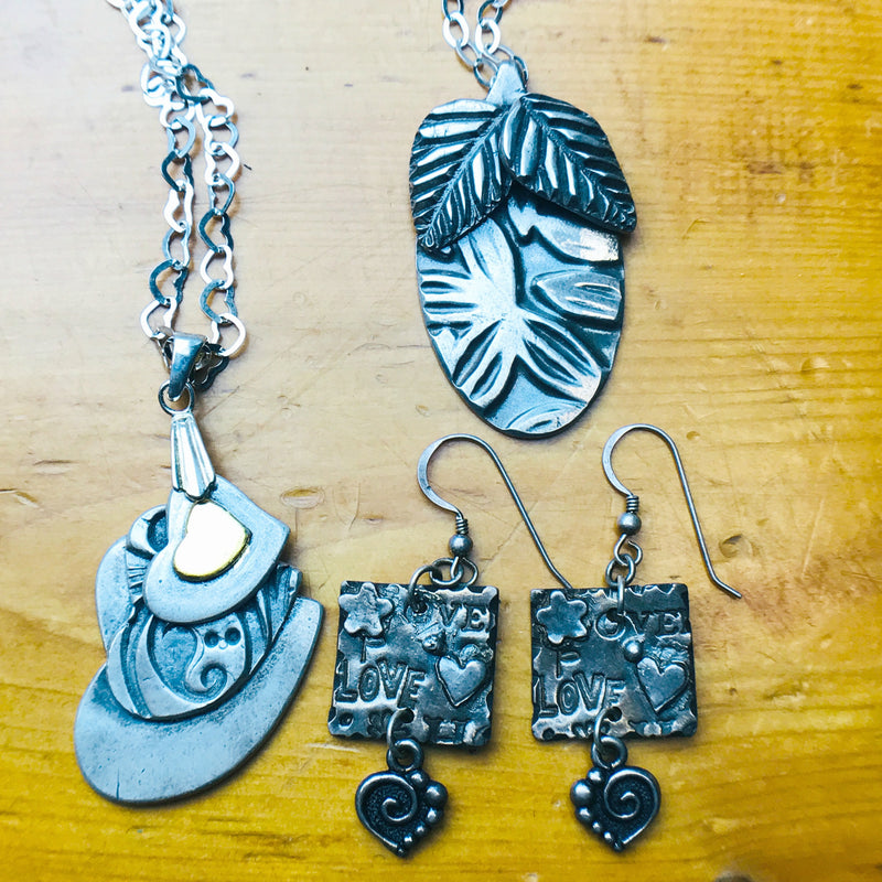 Metal Clay Jewelry / Pendants & Charms 3/22 & 3/29