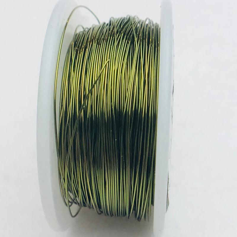 Olive Green Core Wire, Anti-Tarnish