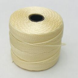 S-Lon Bead Cord, Pale Yellow, 77 yards