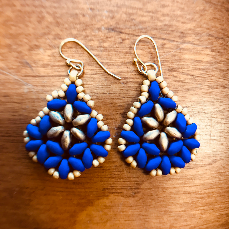Elegant Bead Stitch Earrings 6/16/18