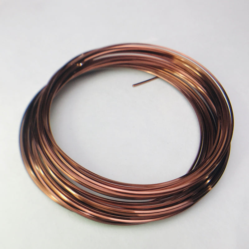 Square Antique Copper Wire 21 Gauge