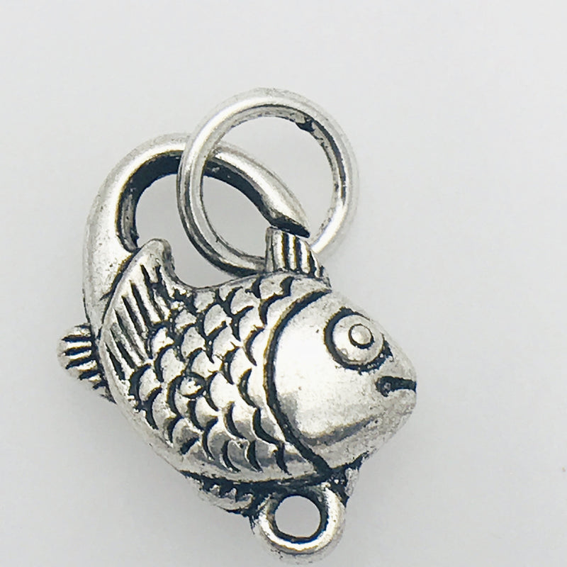 Silver Fish Lobster Clasp