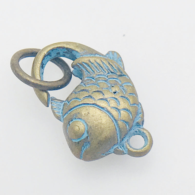 Bronze Patina Fish Lobster Clasp
