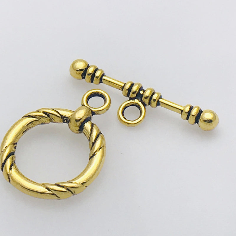 Large Gold Plated Toggle Clasp