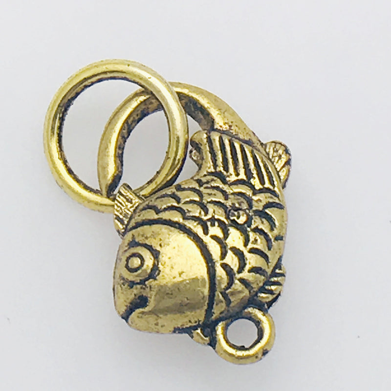Gold Fish Lobster Clasp