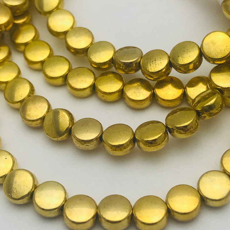 Gold Plated Coin Beads 5mm