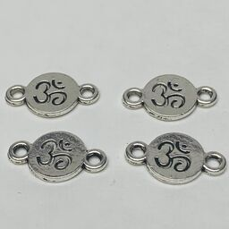 Ohm Connector Charm, Silver