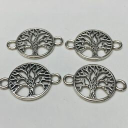 Tree of Life Connector Charm, Silver