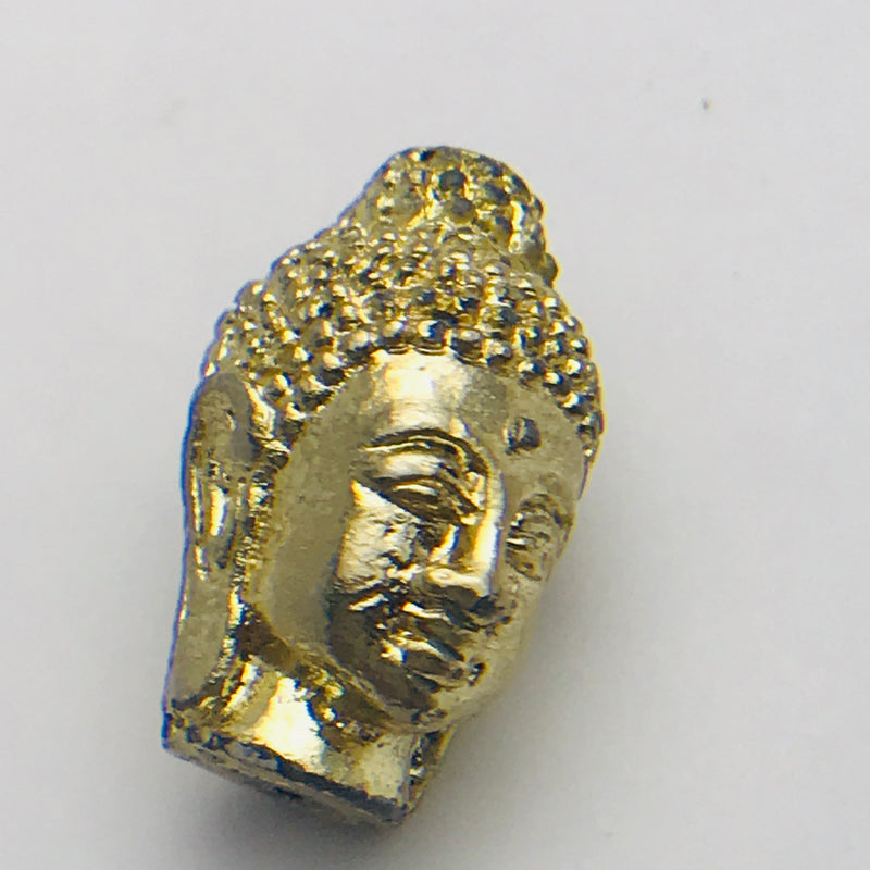 Buddha Head Bead Gold 24mm