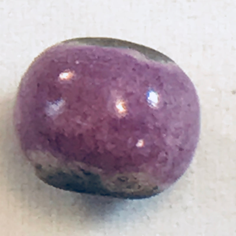 Round Ceramic Bead by Keith OConnor, Purple