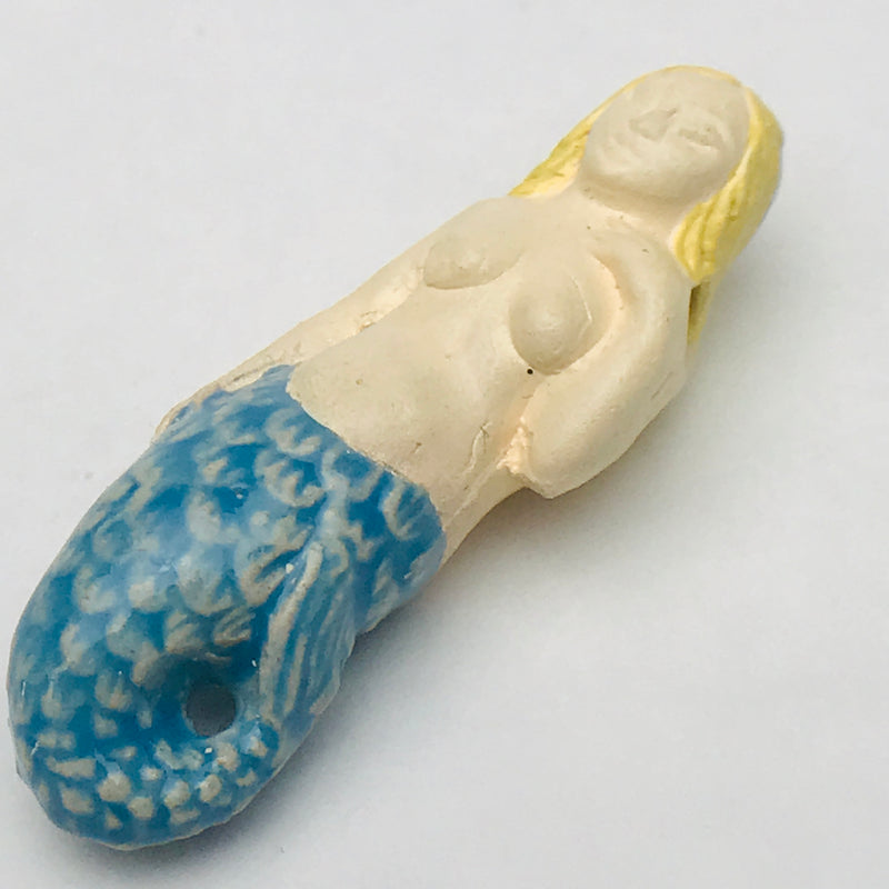 Mermaid, Peruvian Ceramic Bead