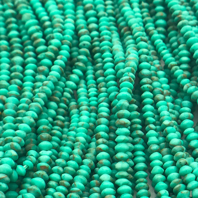 Matte Finish Stones, 2mm, Green