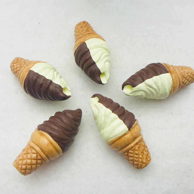 Ice Cream Cone Peruvian Ceramic Bead