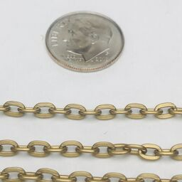Antique Gold Tiny Rectangle Link Chain