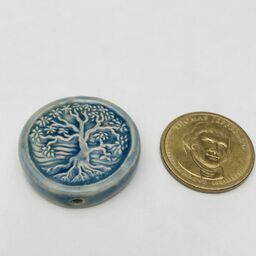 Tree of Life Peruvian Ceramic Bead