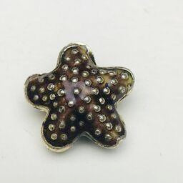 Cloisonne Starfish Bead, Brown 20mm