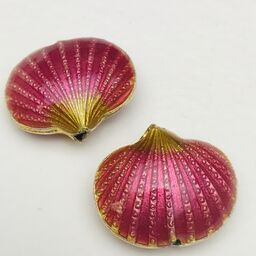 Cloisonne Shell Bead, Pink 20mm