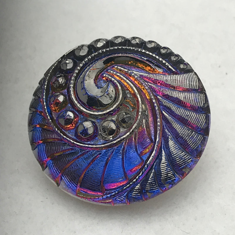 TurbineCzech Button 27mm Purple
