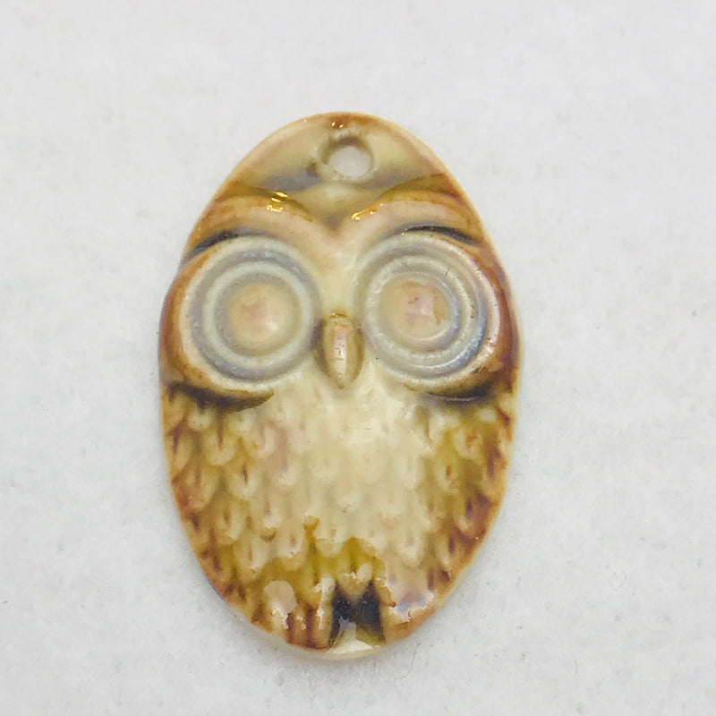 Owl Charm by Keith OConnor, Brown, 27x18mm