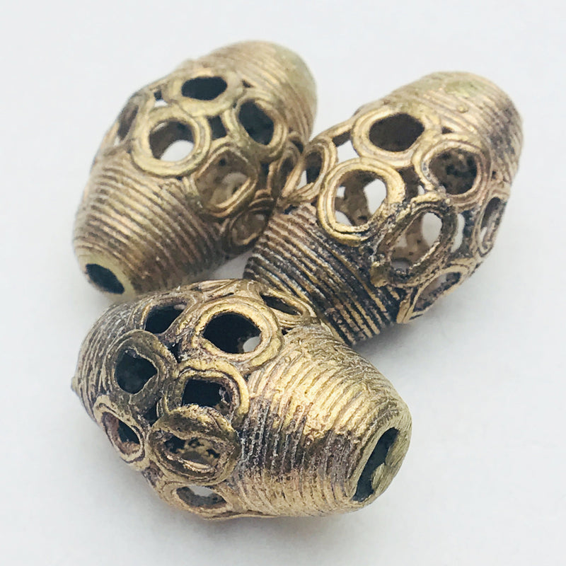 Turbine Ghana Brass Bead 33mm