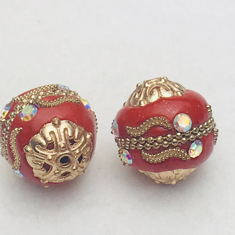 Regal Red Mongolia Bead 19mm