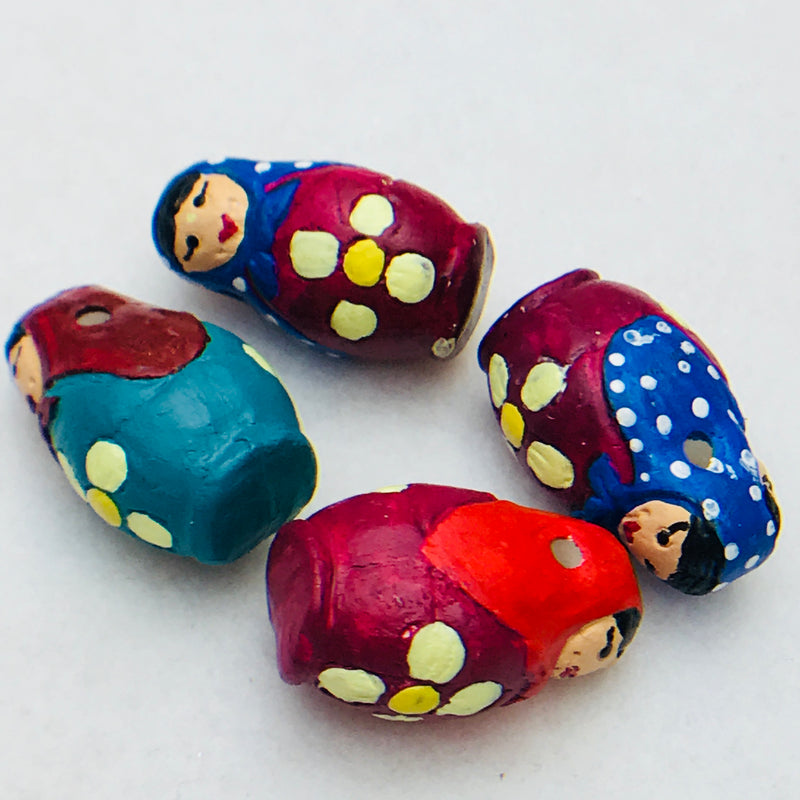 Stacking Doll Peruvian Ceramic Bead