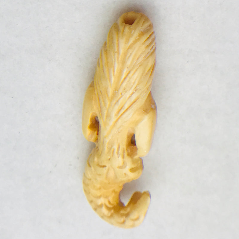 Bone Mermaid Bead, 59x17mm