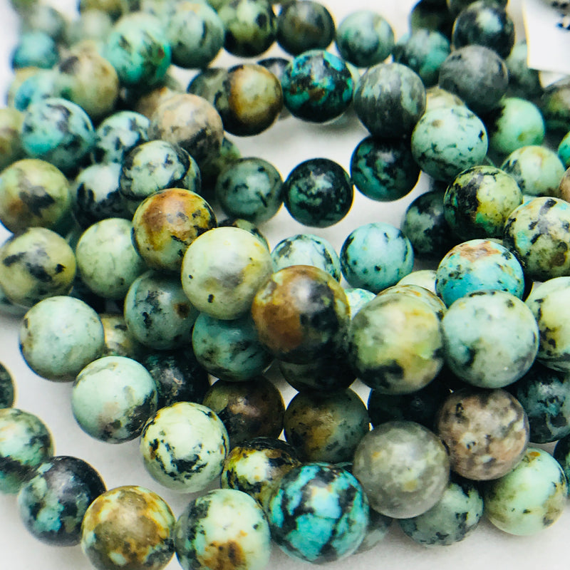 African Turquoise Gemstones 6, 8mm