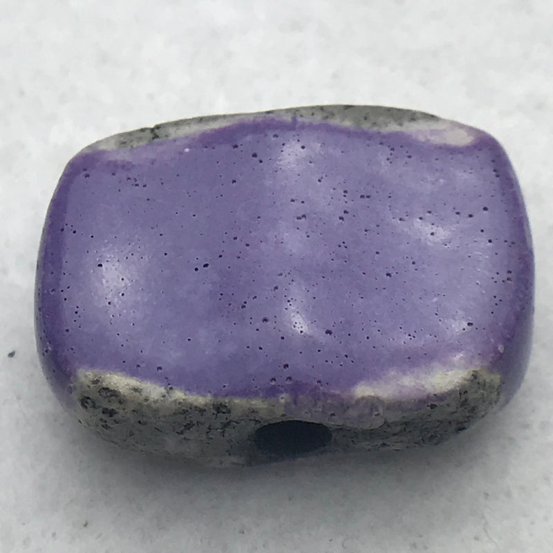 Chicklet Ceramic Bead by Keith OConnor, Purple