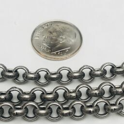 Brushed Silver Rolo Chain 5mm