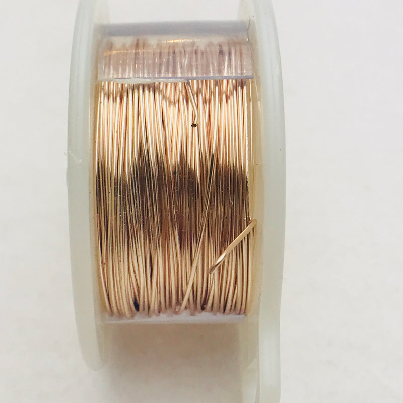 Rose Gold Copper Core Wire, Anti-Tarnish