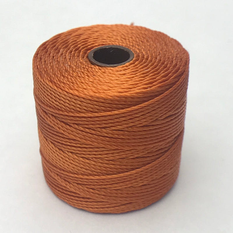 S-Lon Bead Cord, Rust, 77 yards