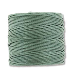 S-Lon Bead Cord, Celery Green, 77 yards