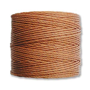 S-Lon Bead Cord, Copper, 77 yards