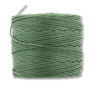 S-Lon Bead Cord, Fern, 77 yards