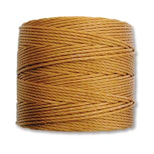 S-Lon Bead Cord, Gold, 77 yards