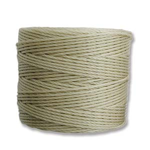 S-Lon Bead Cord, Light Khaki, 77 yards